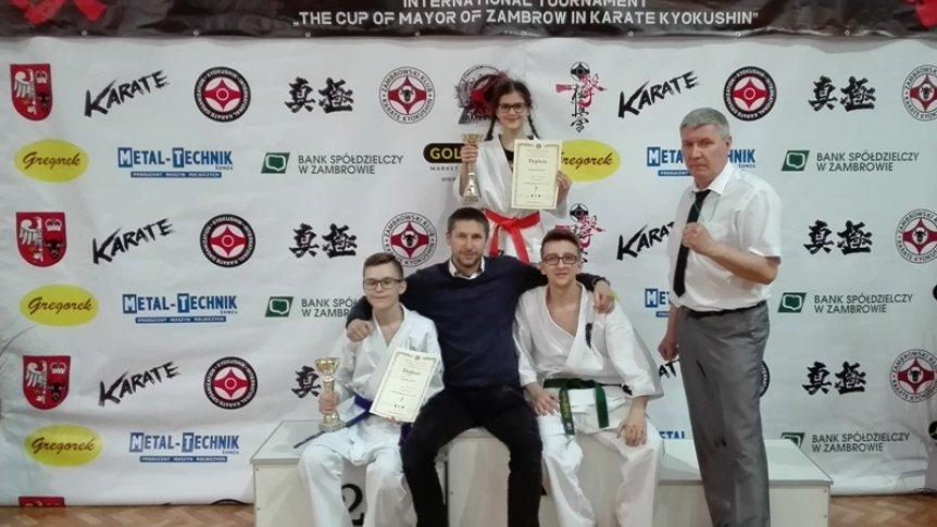 Złoto i srebro dla zawodników BKKK w Międzynarodowym Turnieju Karate Kyokushin