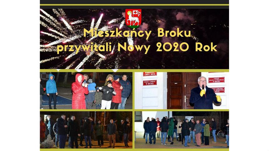 Mieszkańcy Broku powitali Nowy 2020 Rok