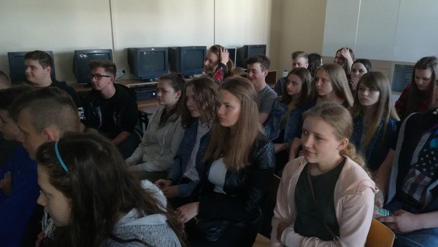 Klasa III na dniach otwartych szkół ponadgimnazjalnych w Ostrowi Mazowieckiej