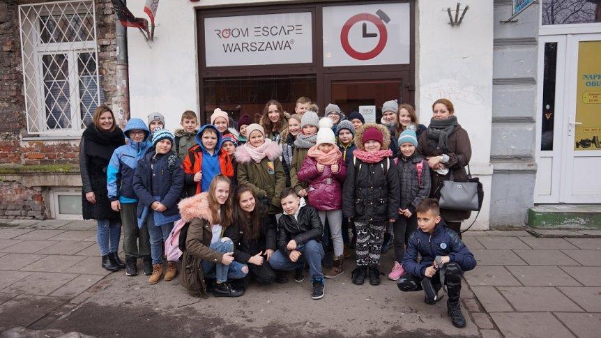 Uczniowie ZPPO w Broku w Escape Room